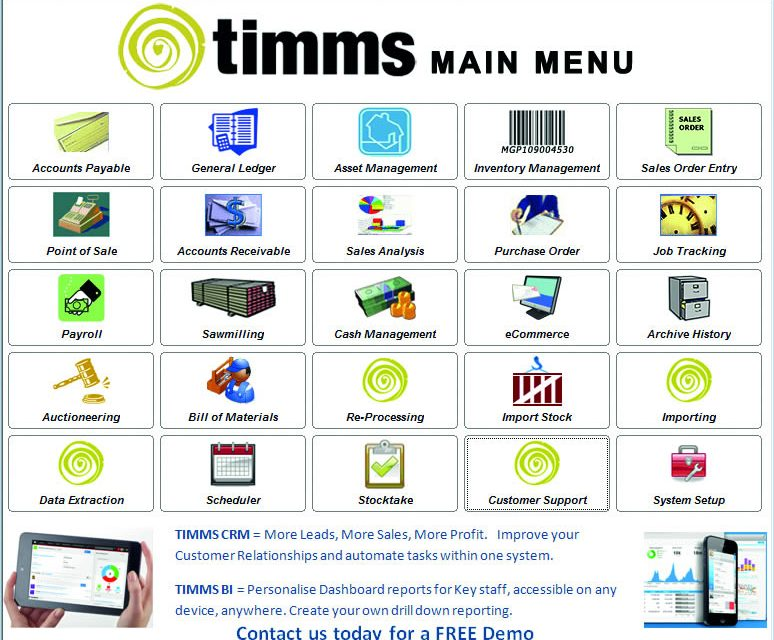 TIMMS for timber